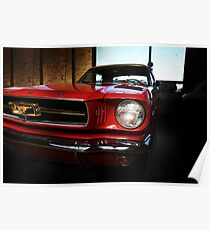 ford mustang classic car Poster