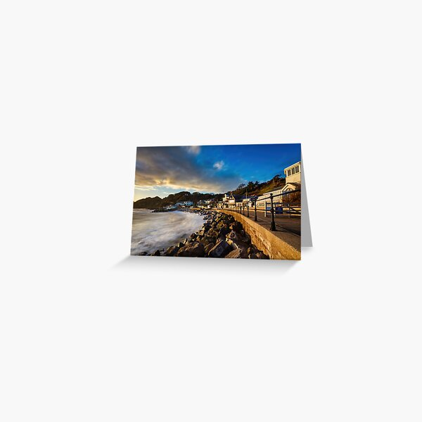 Steephill Cove Gold Greeting Card