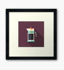 French Press Coffee Framed Print
