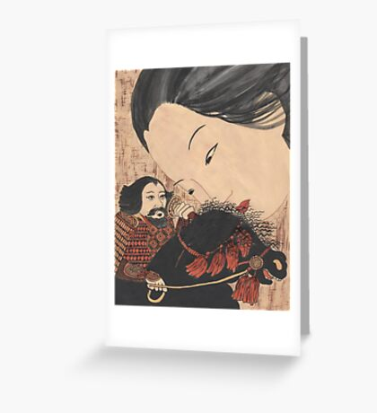 Geisha Ghost Greeting Card
