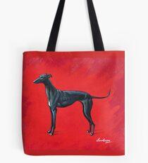 Black Greyhound Tote Bag