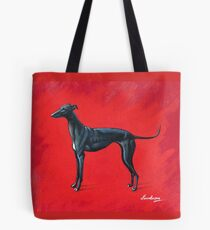 Black Greyhound Tote Bag