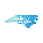 North Carolina - blue watercolor by gracehertlein
