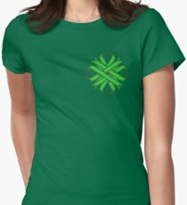 Green Clover Ribbon Womens Fitted T-Shirt