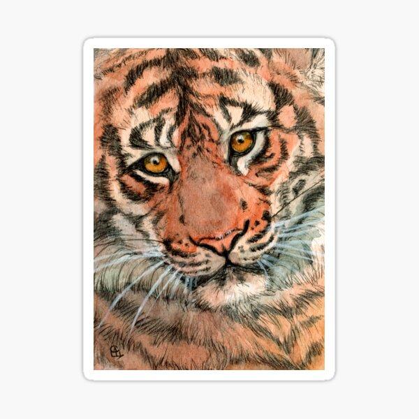 Tiger portrait 884 Sticker