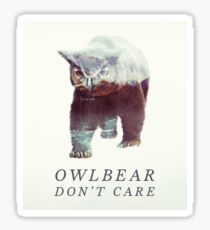 Owlbear Don't Care Sticker