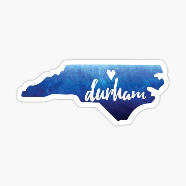 Durham, North Carolina - blue watercolor Sticker