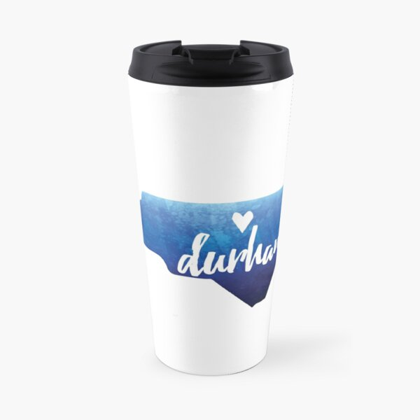 Durham, North Carolina - blue watercolor Travel Mug