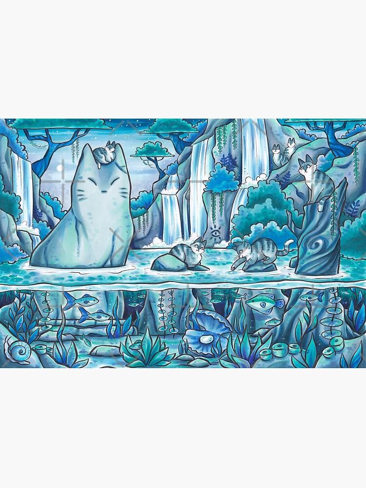 Mysterious Jungle Cat Pond by kattvalk