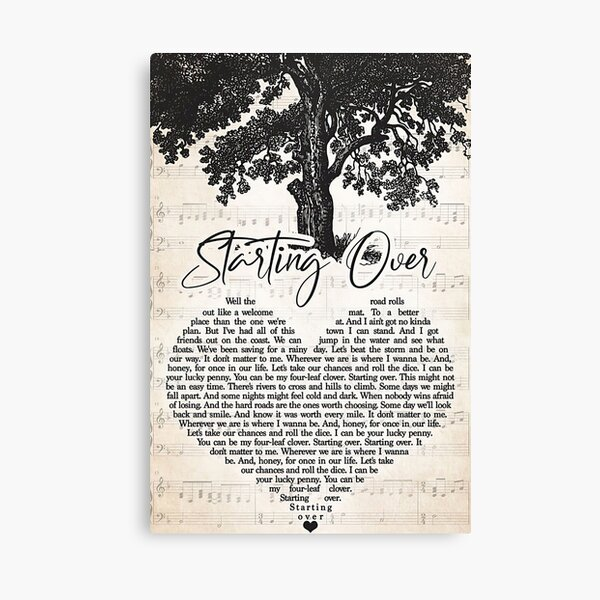 Chris Stapleton – Starting Over Lyrics Canvas Print