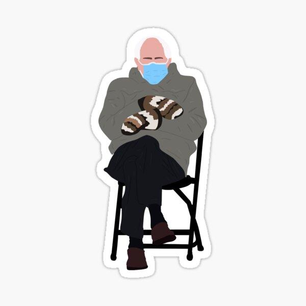 Inauguration Bernie In Chair Biden 2021 Sitting Meme Sticker