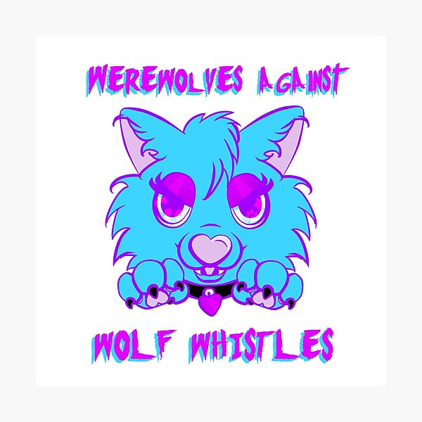 Werewolves against wolf whistles Photographic Print