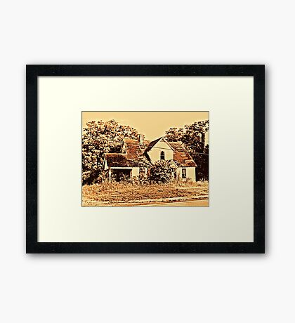 """""""Across the Street""""... prints and products Framed Print"""