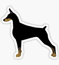 Doberman Pinscher Basic Breed Silhouette Sticker