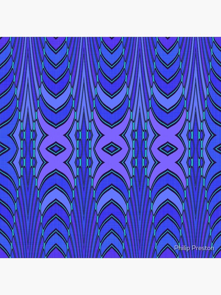 Modern Geometric Blue Purple Pattern Design 1339 by prestonphoto