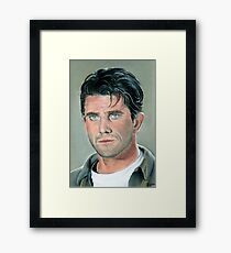 "hand drawing with pastels ""Mel Gibson"" Framed Print"