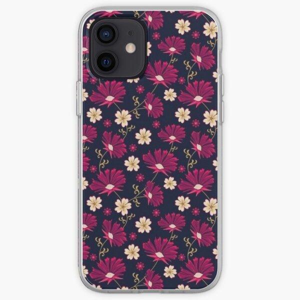 Dur de fleur pourpre Coque souple iPhone