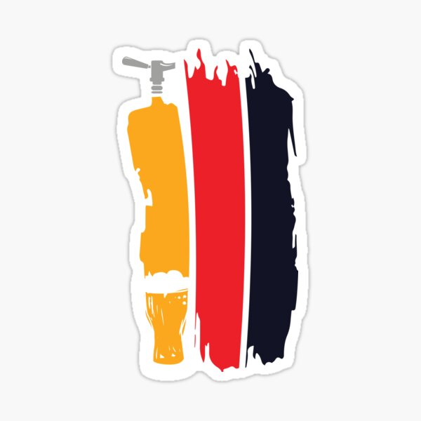 German Beer Tap Craft Beer German Pils Sticker