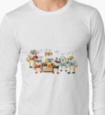 Cartoon Animals Tigers Rock Band Musical T-Shirt