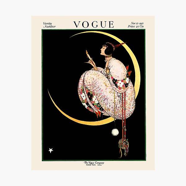 Vintage Vogue Magazine Cover November 15th, 1917 Photographic Print