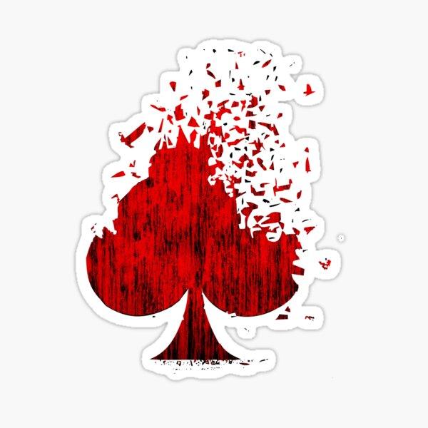 Spades Poker Card Design Artwork 2021 Sticker