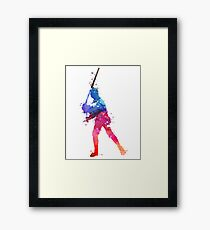 LUKE SKYWALKER STAR WARS WATERCOLOR Framed Print
