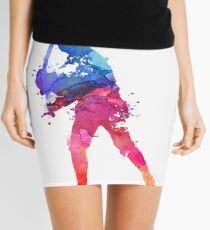 LUKE SKYWALKER STAR WARS WATERCOLOR Mini Skirt
