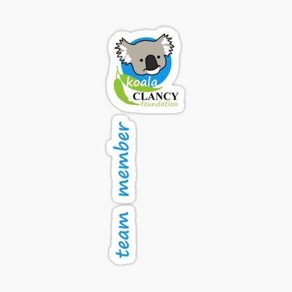 Koala Clancy Foundation Team Member small logo blue Sticker
