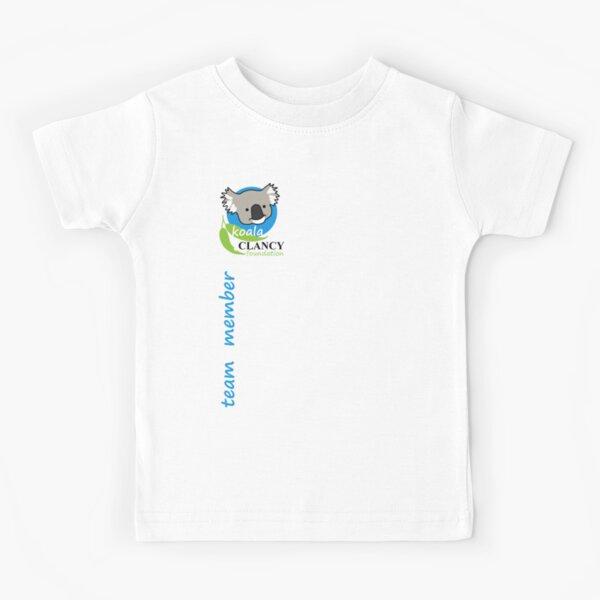 Koala Clancy Foundation Team Member small logo blue Kids T-Shirt