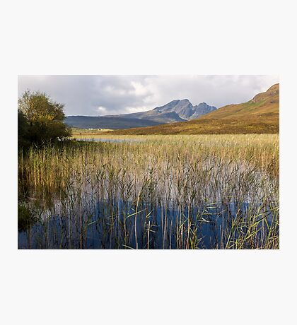 Blaven and the Reeds of Loch Cill Chriosd Photographic Print