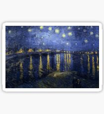 'Starry Night Over The Rhone' by Vincent Van Gogh (Reproduction) Sticker