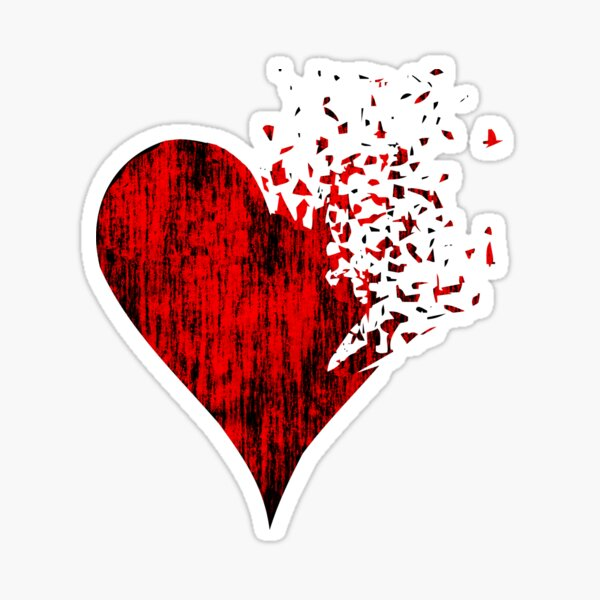 Hearts poker card design artwork 2021 Sticker