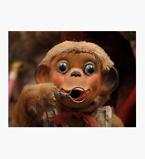 Dusty Old Monkey Doll Photographic Print