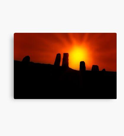 Standing Stones at Sunrise Canvas Print