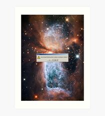 Error: God Not Found-Fabric of Space Time Torn Apart (Hubble Space Telescope) Art Print