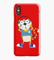 Cartoon Animals Tiger Rocking to the Music iPhone Case/Skin