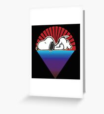 snoopy down under the stars Greeting Card