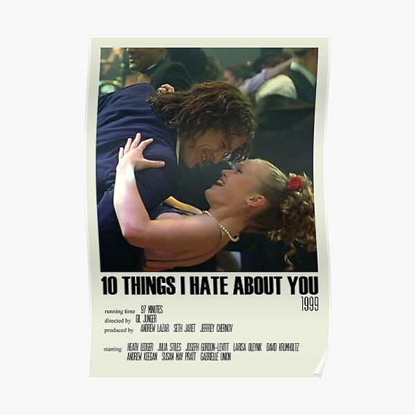 10 Things I Hate About You Alternative Poster Art Movie Large (4) Poster