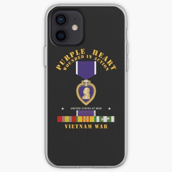 Purple Heart - WIA w VN SVC w Purple Heart Ribbon iPhone Soft Case