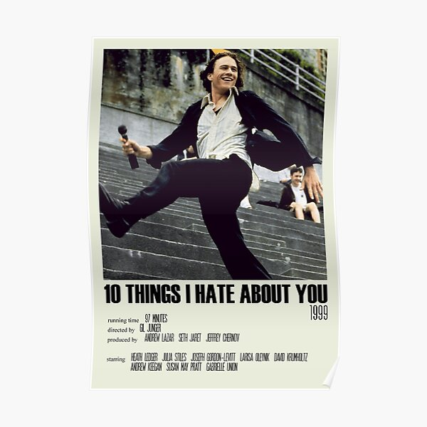 10 Things I Hate About You Alternative Poster Art Movie Large (3) Poster