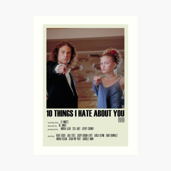 10 Things I Hate About You Alternative Poster Art Movie Large (2) Art Print