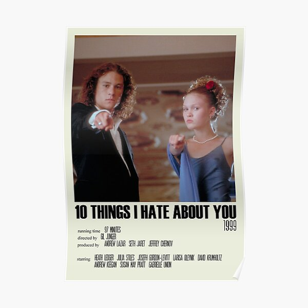 10 Things I Hate About You Alternative Poster Art Movie Large (2) Poster