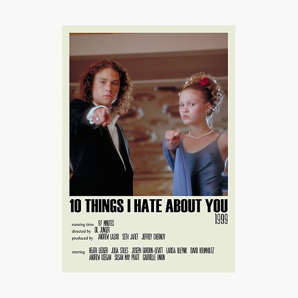 10 Things I Hate About You Alternative Poster Art Movie Large (2) Photographic Print