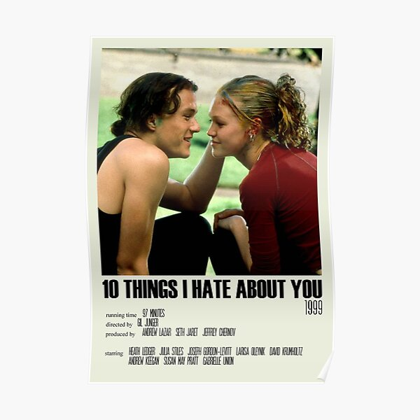 10 Things I Hate About You Alternative Poster Art Movie Large (1) Poster