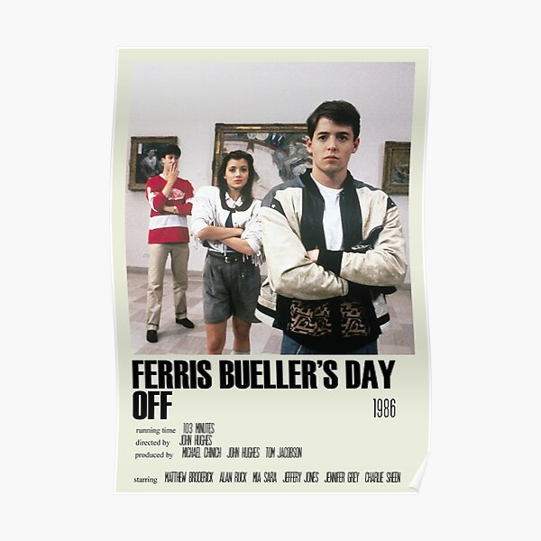 Ferris Bueller's Day Off Alternative Poster Art Movie Large (2) Poster