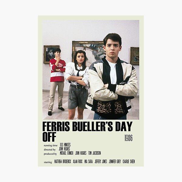 Ferris Bueller's Day Off Alternative Poster Art Movie Large (2) Photographic Print