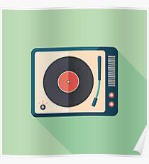 Vinyl Player Poster