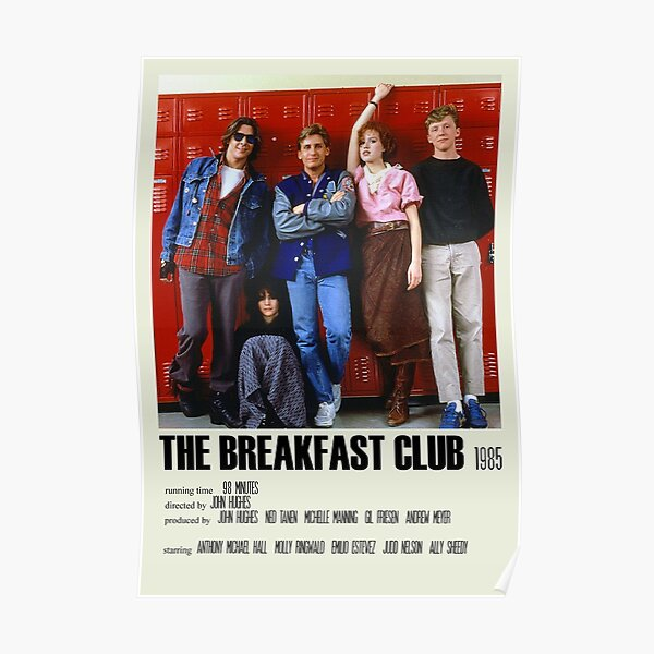 The Breakfast Club Alternative Poster Art Movie Large (2) Poster