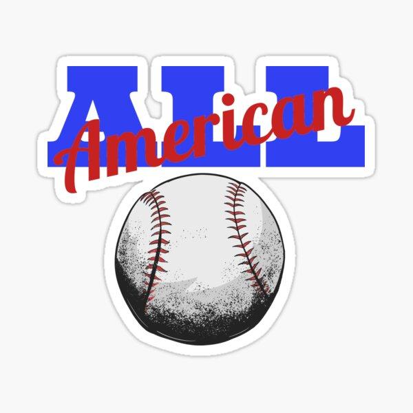 All American Baseball red white and blue Sticker Duvet  Sticker
