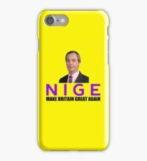 NIGE - Make Britain Great Again iPhone Case/Skin